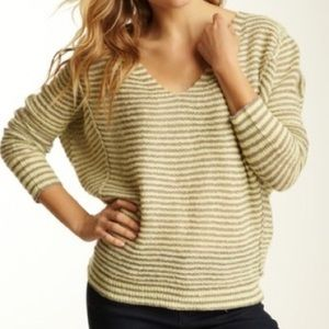 Free People Bumblebee Green Striped Sweater XS